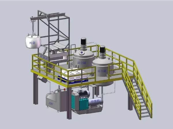一体化投放物料研磨分散设备
