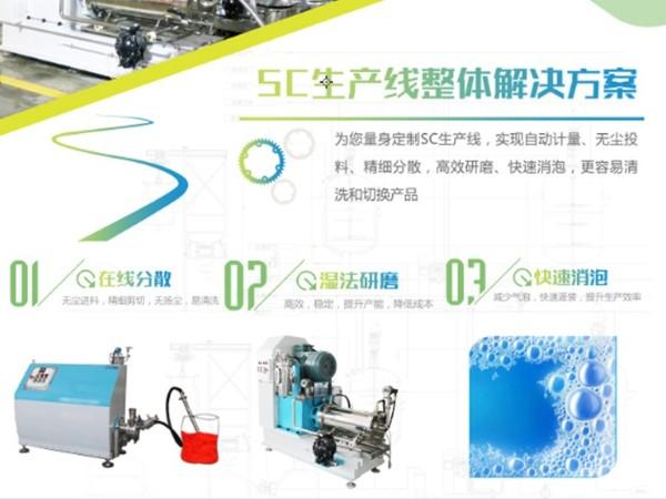 悬浮剂农药SC生产线设备整体解决方案